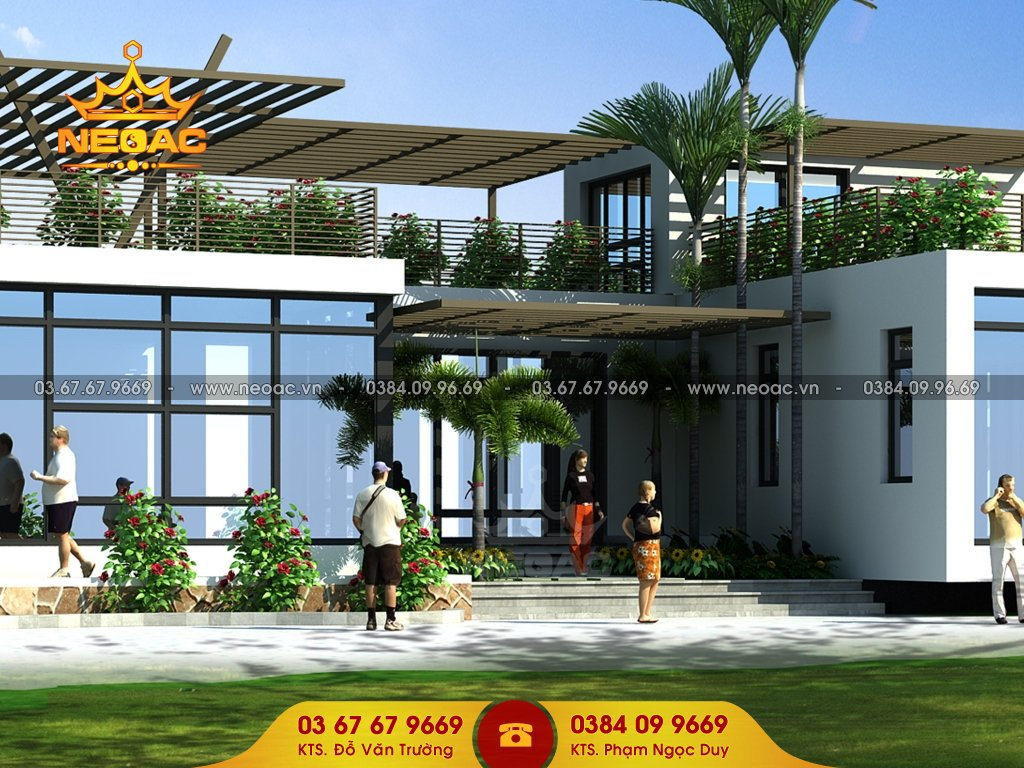 Dự án biệt thự 1 tầng hiện đại tại Bắc Ninh