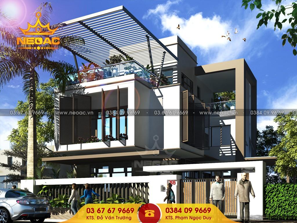 Hồ sơ biệt thự 2 tầng hiện đại tại Sóc Sơn