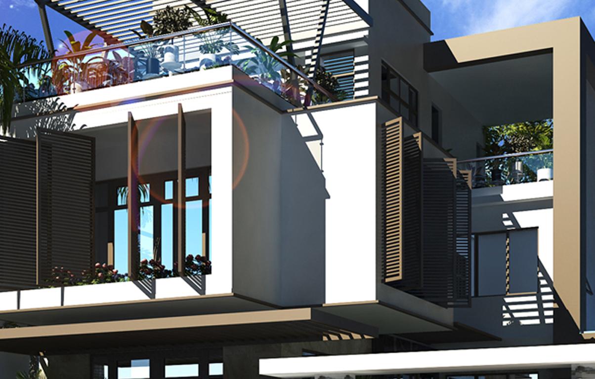 Dự án biệt thự 2 tầng hiện đại mặt tiền 8.3m