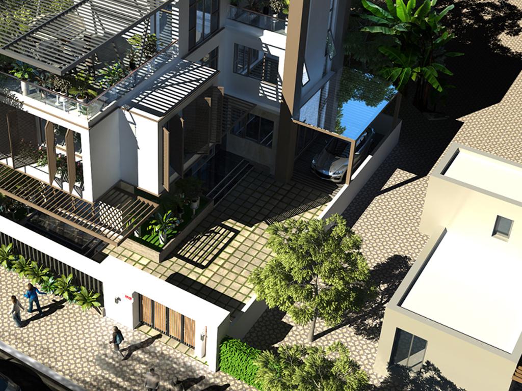 Mẫu biệt thự 2 tầng hiện đại mặt tiền 8.3m