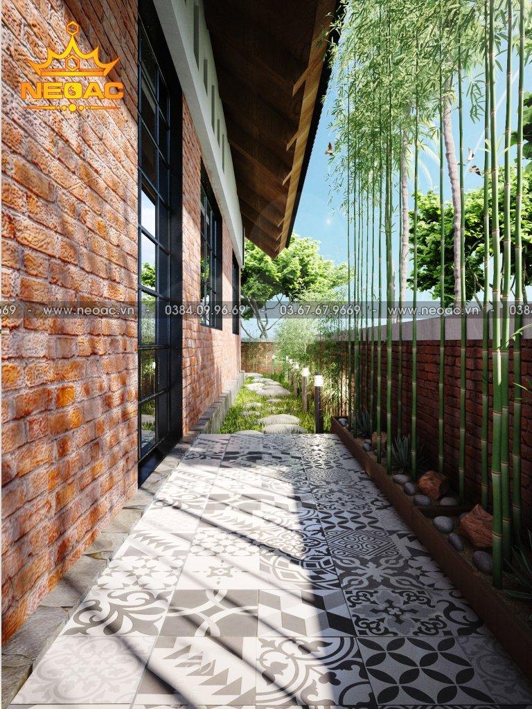 Hồ sơ biệt thự 1 tầng mái Thái 150m2