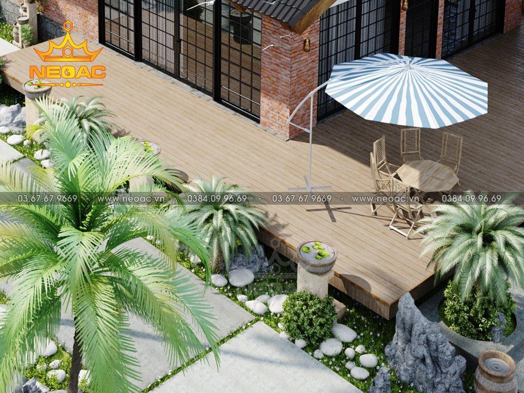 Thiết kế nhà 1 tầng mái Thái 150m2