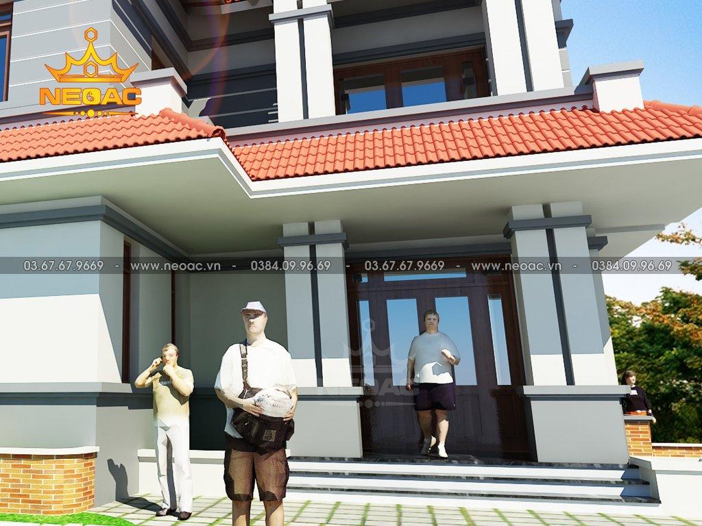 Thiết kế biệt thự mái Thái 2 tầng 100m2