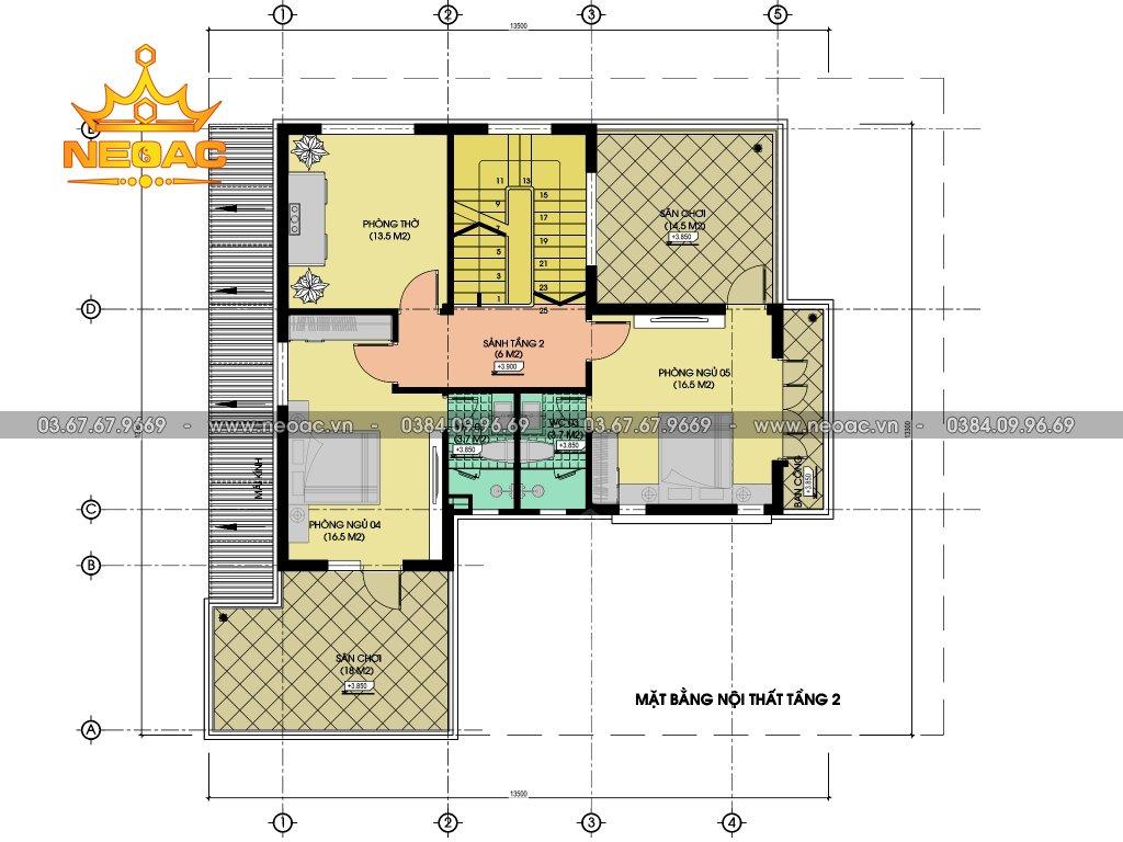 Hồ sơ biệt thự hiện đại 2 tầng 125m2