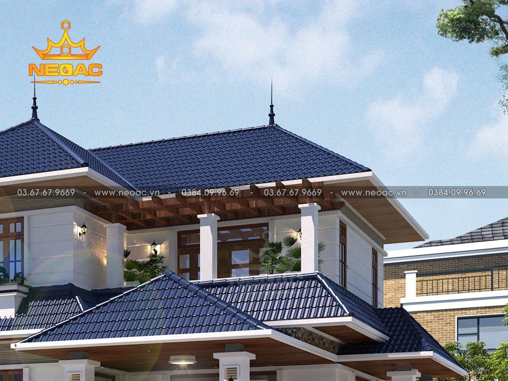 Hồ sơ biệt thự mái Thái 2 tầng 130m2