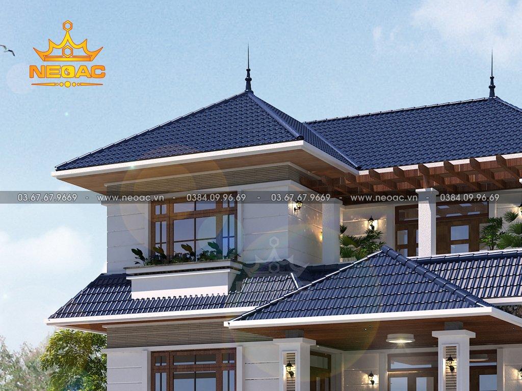 Bản vẽ biệt thự mái Thái 2 tầng 130m2