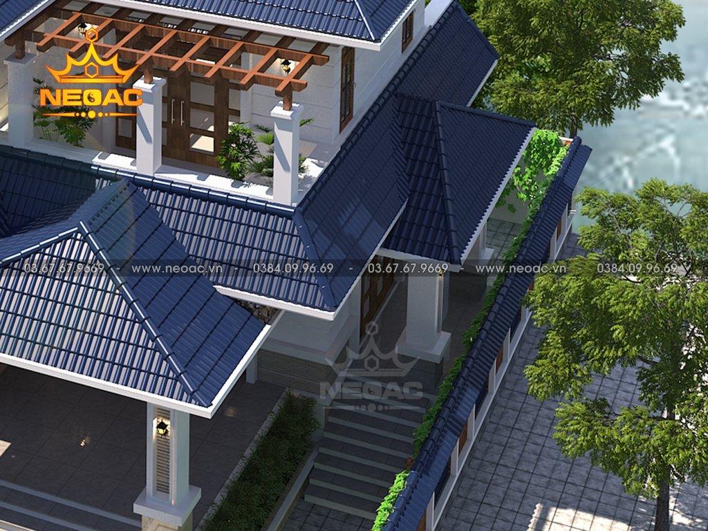 Thiết kế kiến trúc biệt thự mái Thái 2 tầng 130m2