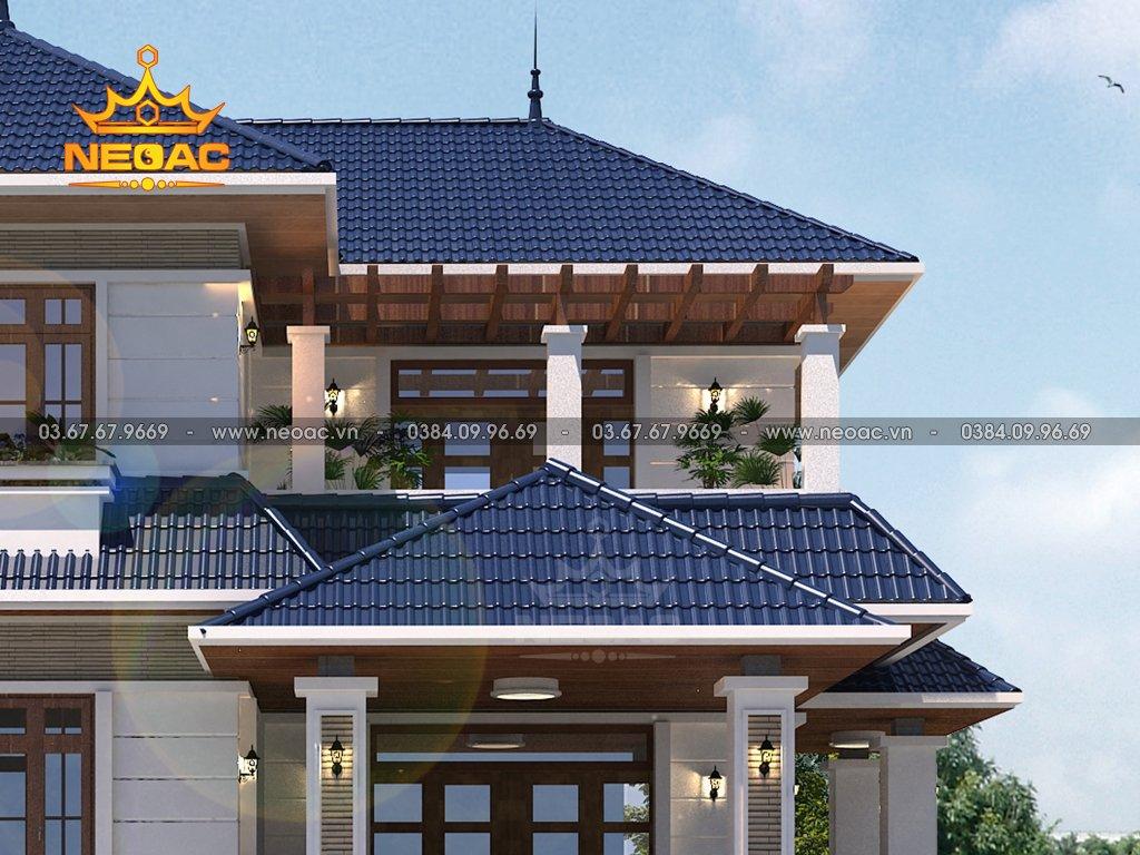 Xây dựng biệt thự mái Thái 2 tầng 130m2