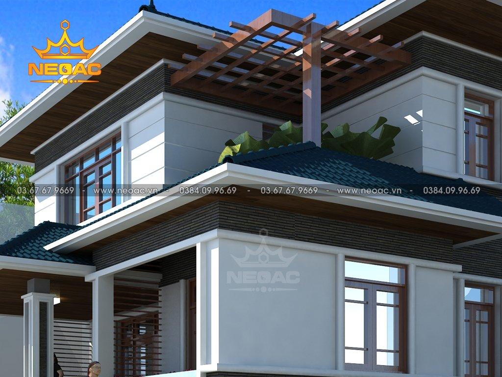 Xây dựng biệt thự 2 tầng mái Thái 140m2