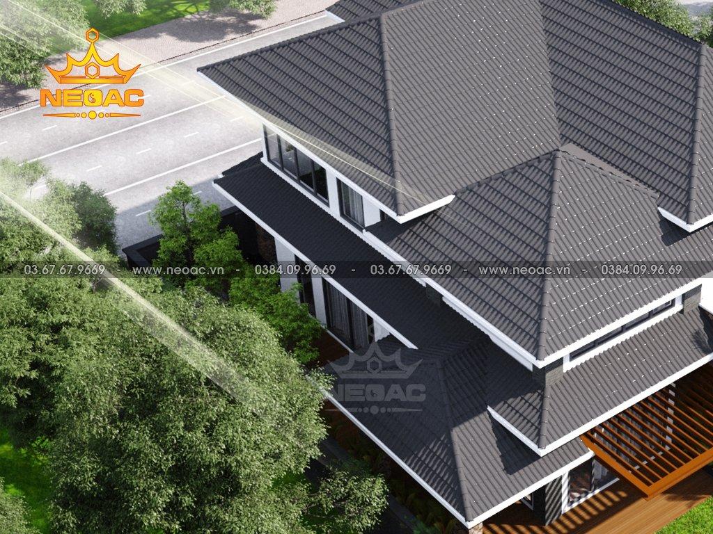 Mẫu biệt thự mái Thái 2 tầng 150m2