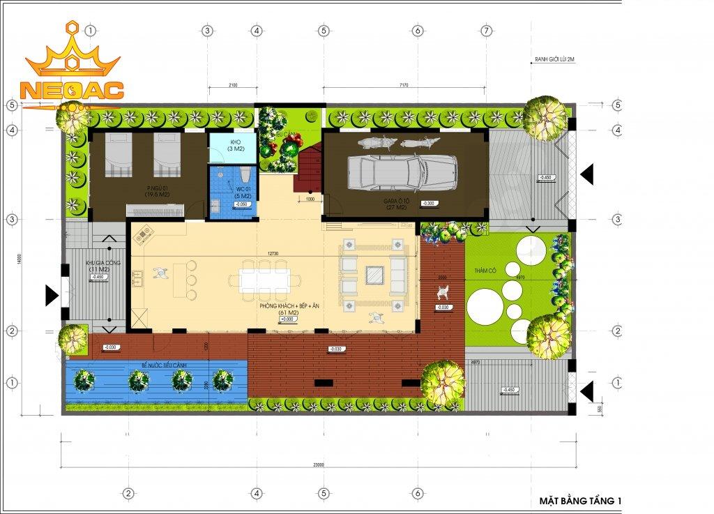 Biệt thự 2 tầng nghỉ dưỡng 150m2