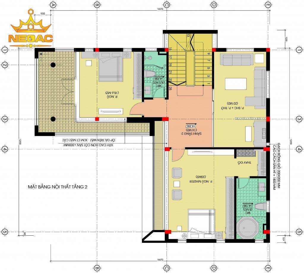 Biệt thự hiện đại 2 tầng 160m2