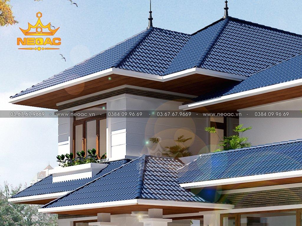 Thiết kế kiến trúc biệt thự 2 tầng mái Thái 170m2