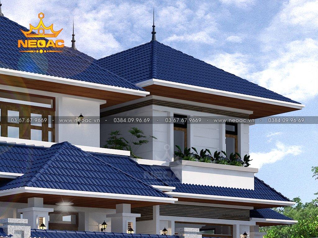 Thiết kế kiến trúc biệt thự 2 tầng mái Thái 172m2