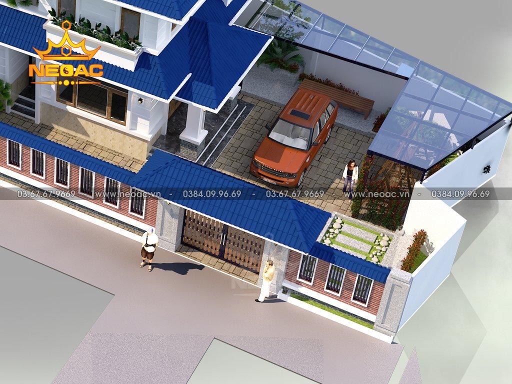 Thiết kế biệt thự hiện đại 2 tầng 172m2