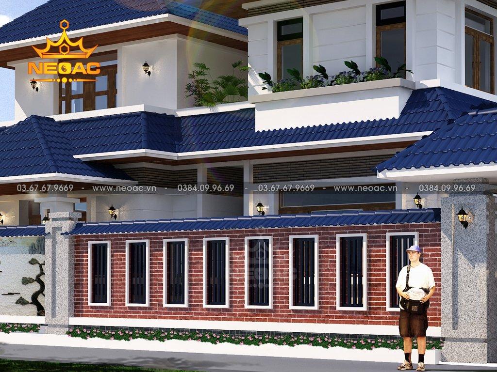 Thiết kế kiến trúc biệt thự mái Thái 2 tầng 172m2