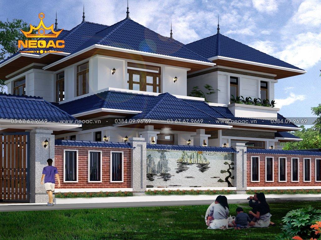 Mẫu biệt thự mái Thái 2 tầng 172m2