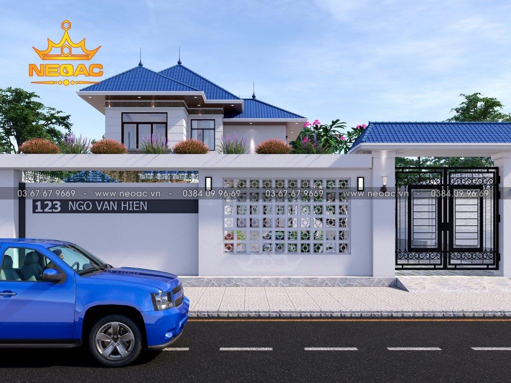 Xây dựng biệt thự mái Thái 2 tầng 220m2