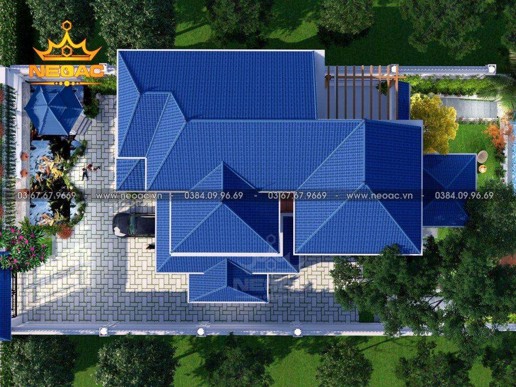 Thiết kế biệt thự mái Thái 2 tầng 220m2