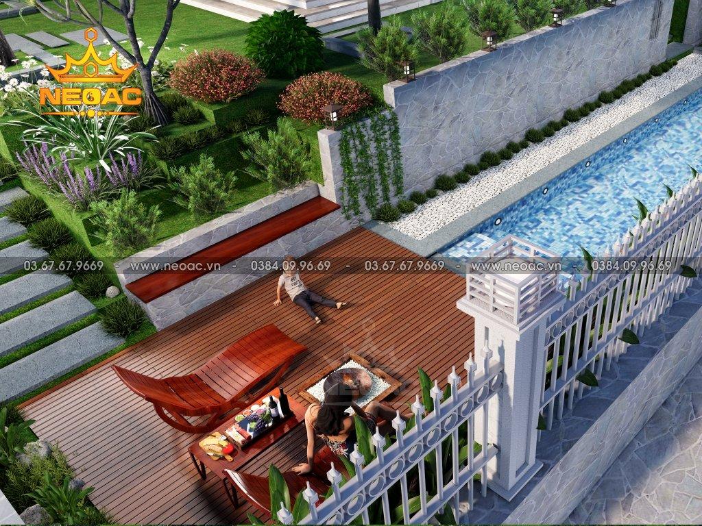Mẫu biệt thự mái Thái 2 tầng 220m2