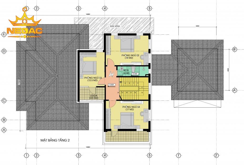 Mẫu biệt thự 2 tầng hiện đại 250m2