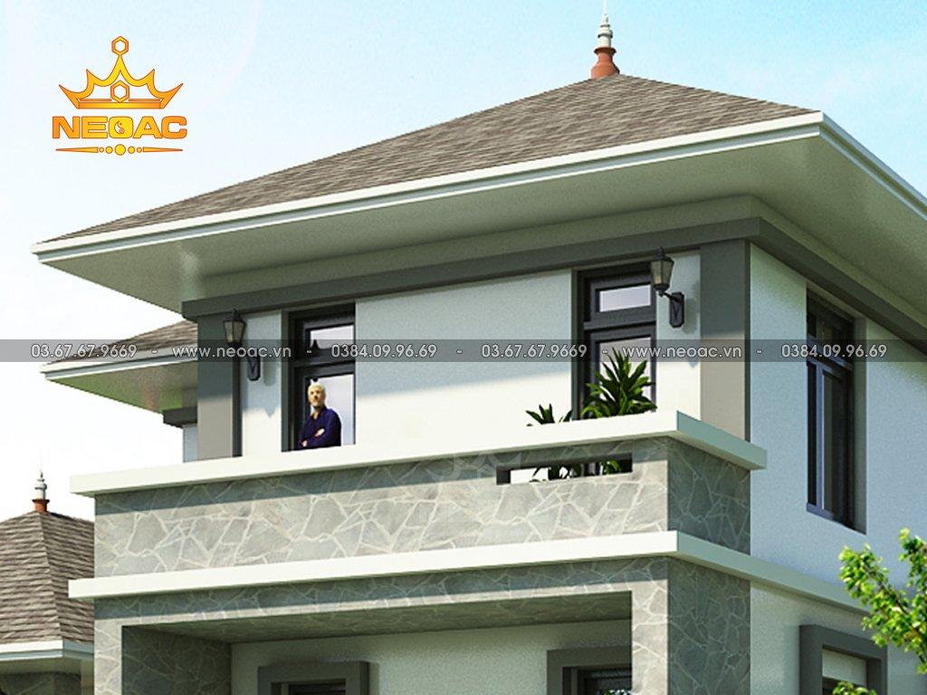 Kiến trúc biệt thự mái Thái 2 tầng 250m2