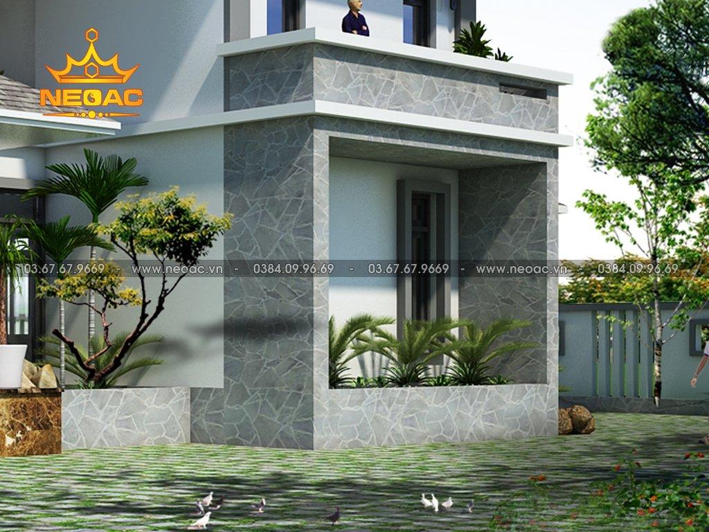 Bản vẽ biệt thự mái Thái 2 tầng 250m2