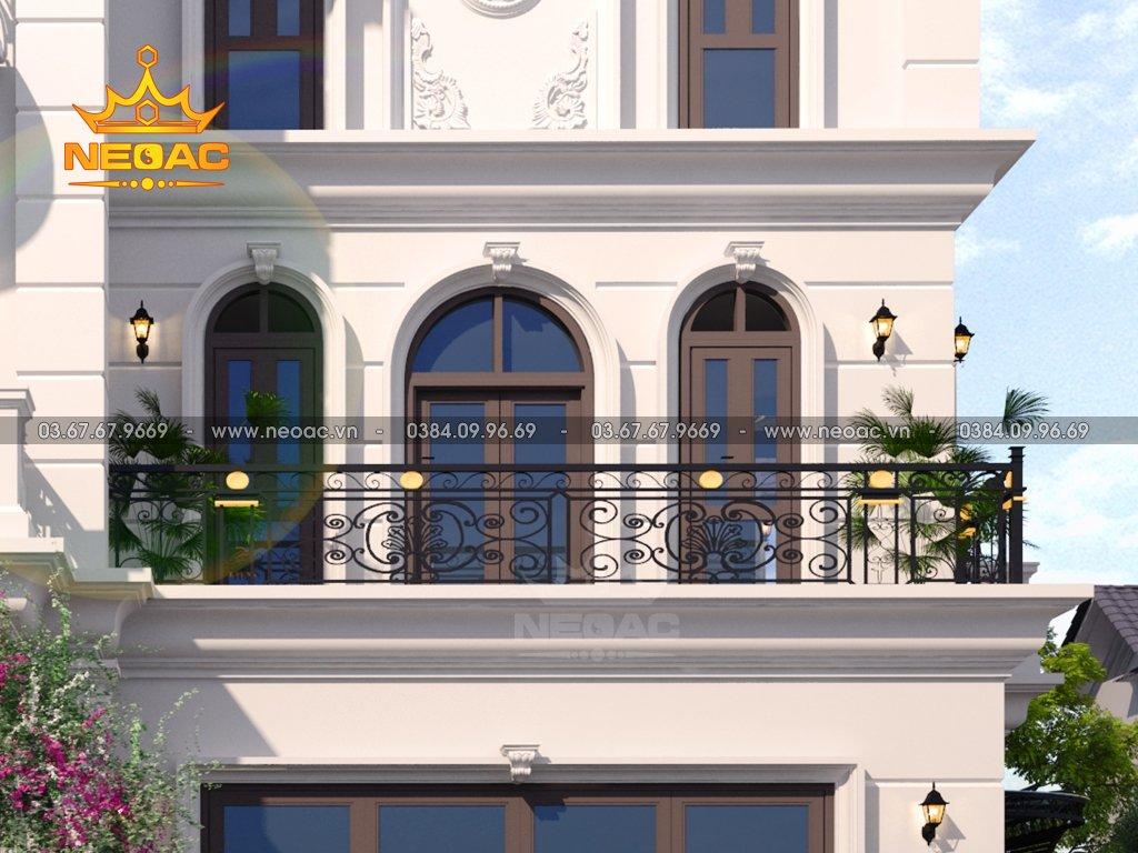 Thiết kế nhà 3 tầng tân cổ điển 140m2