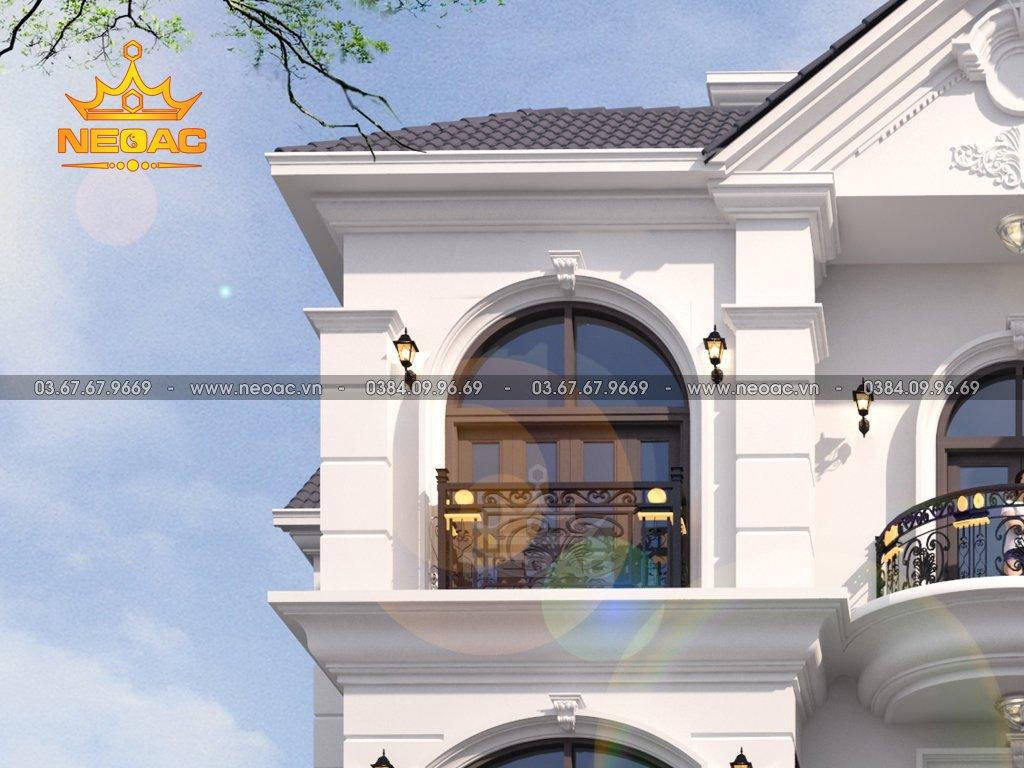 Thiết kế nhà tân cổ điển 3 tầng 140m2