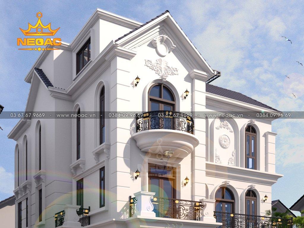 Kiến trúc biệt thự tân cổ điển 3 tầng 140m2
