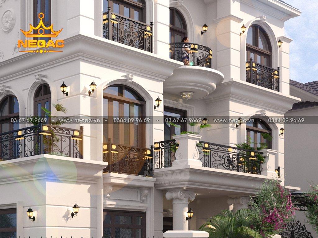 Mẫu nhà biệt thự 3 tầng kiểu Pháp 140m2
