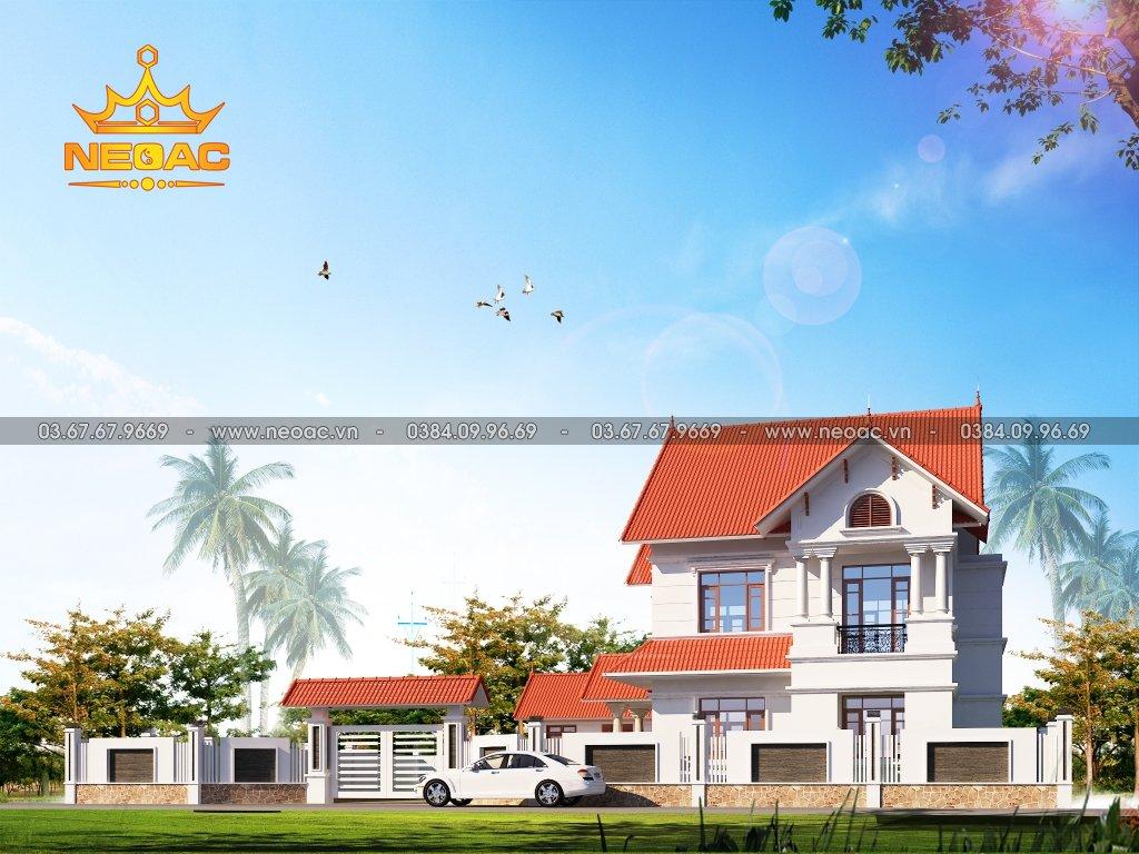 Xây dựng biệt thự mái Thái 3 tầng 145m2