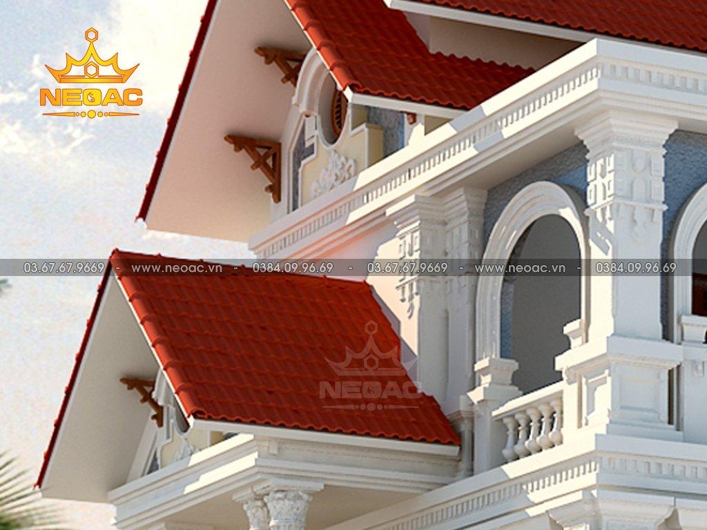 Thiết kế kiến trúc biệt thự tân cổ điển 3 tầng 160m2