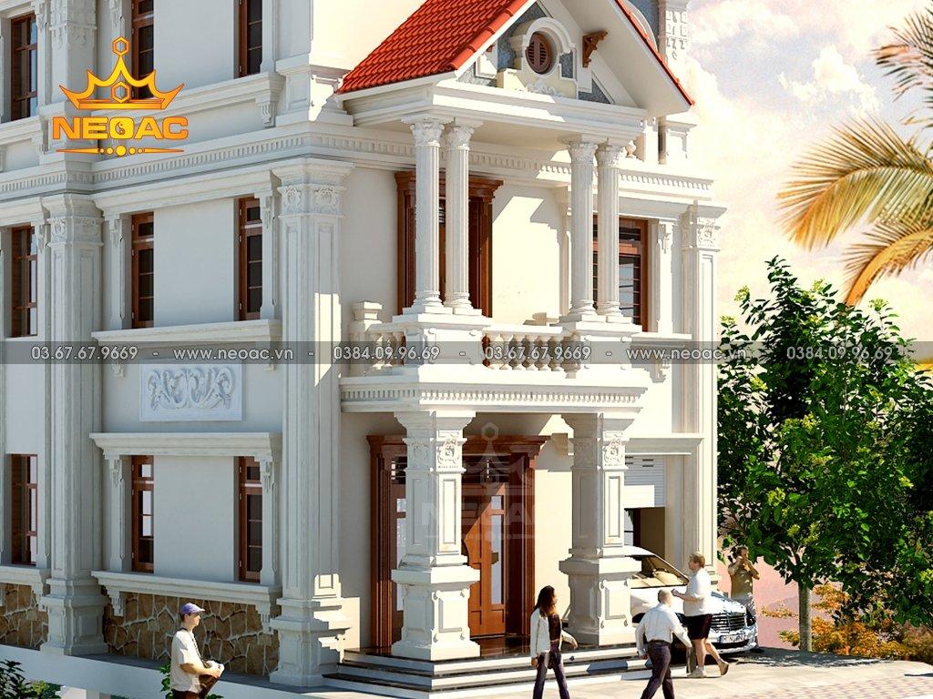 Kiến trúc biệt thự tân cổ điển 3 tầng 160m2