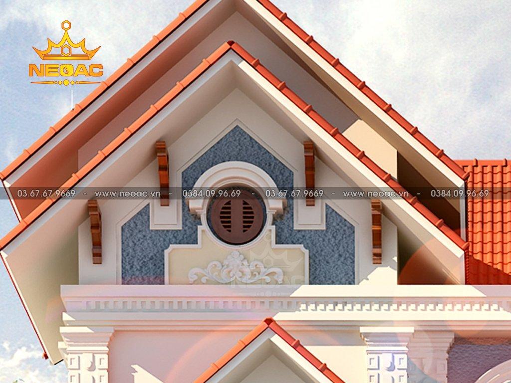 Thiết kế kiến trúc biệt thự mái Thái 3 tầng 160m2