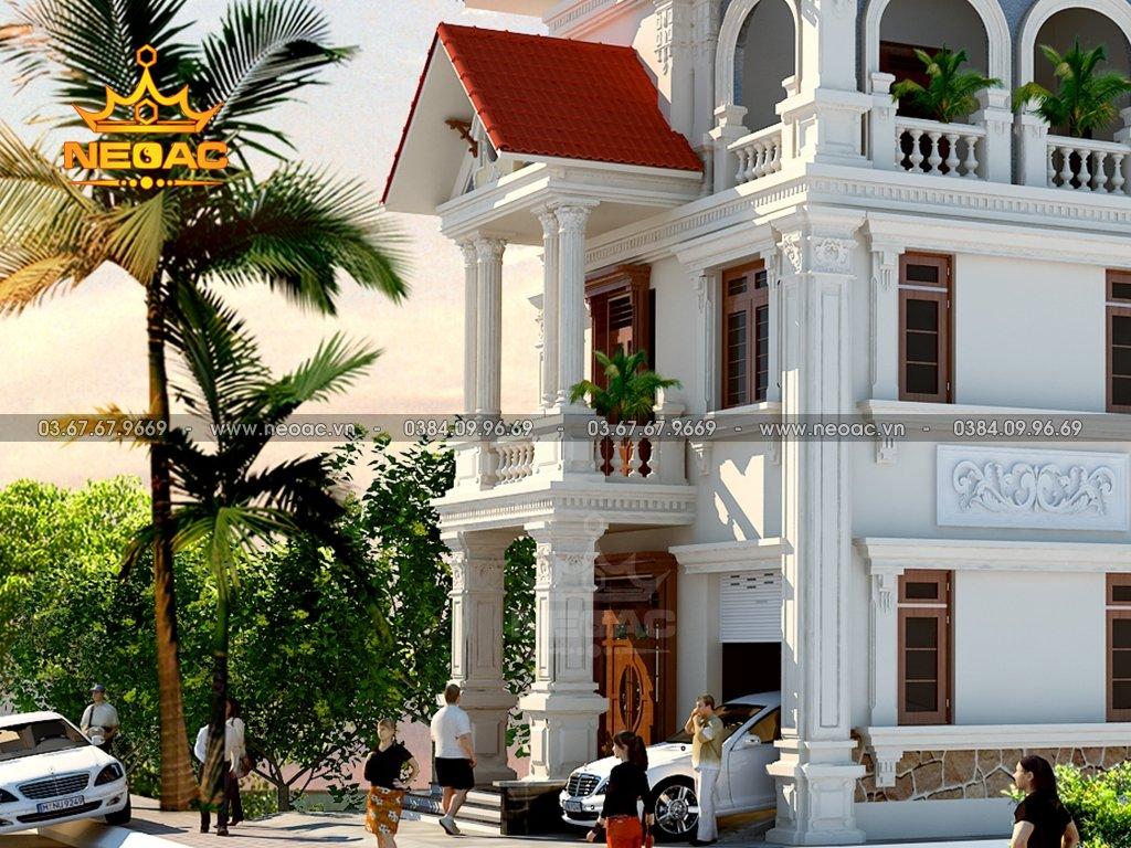 Kiến trúc biệt thự mái Thái 3 tầng 160m2