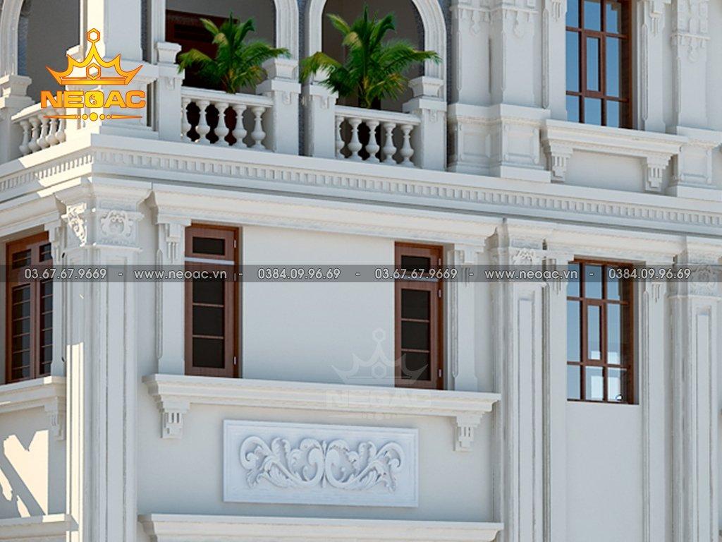 Thiết kế biệt thự mái Thái 3 tầng 160m2