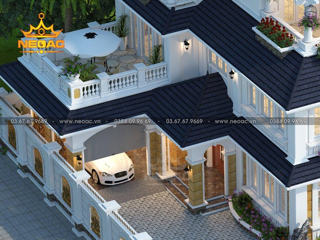 Thiết kế nhà 3 tầng tân cổ điển 175m2