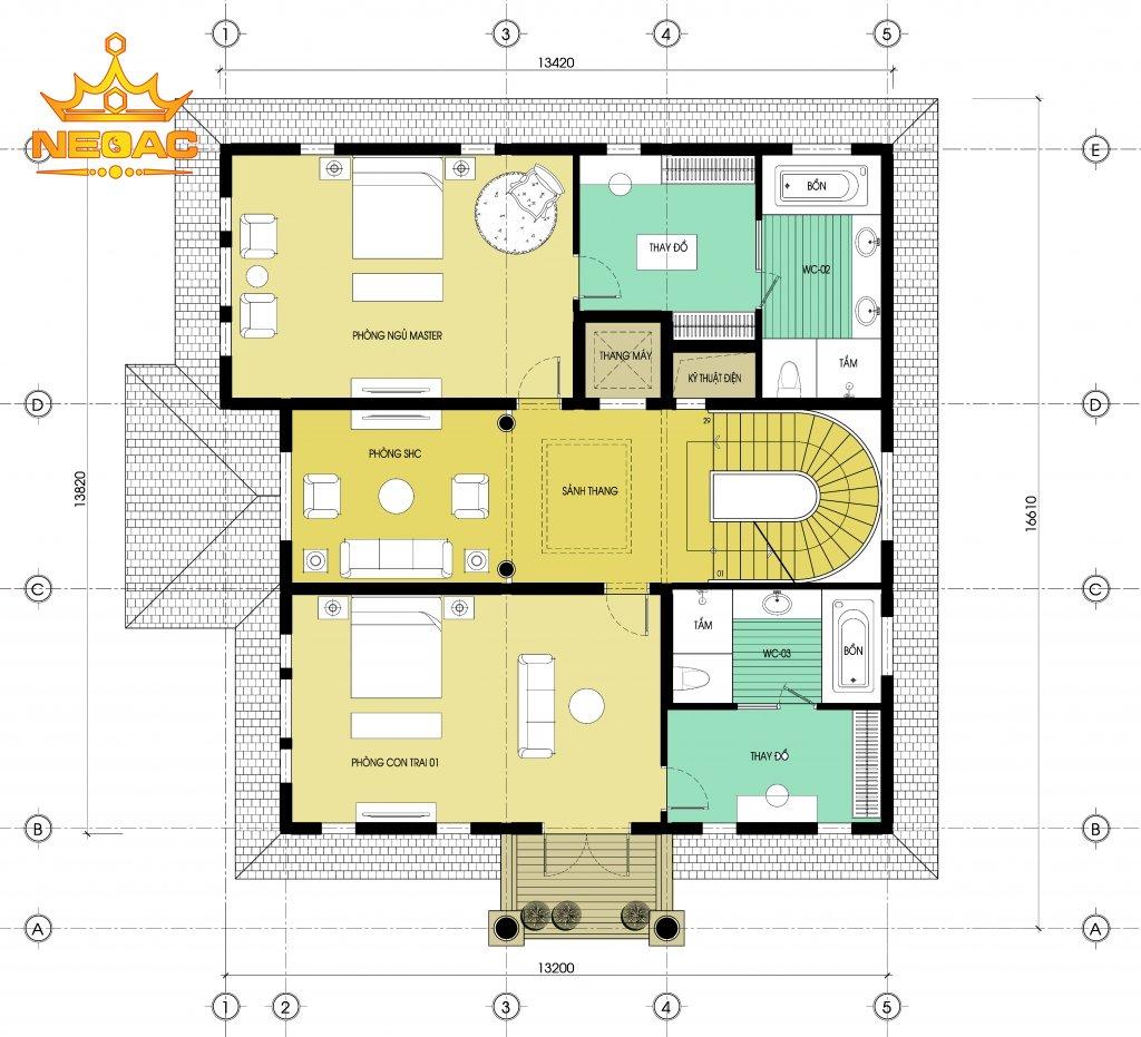 Biệt thự Pháp 3 tầng 175m2