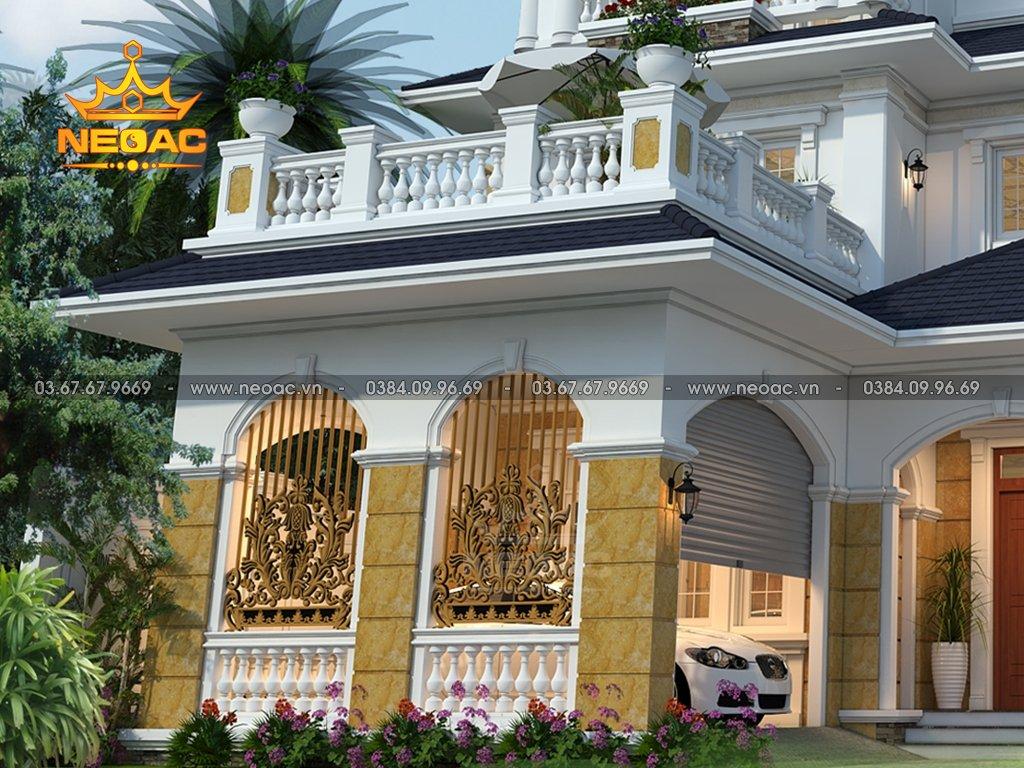 Thiết kế biệt thự tân cổ điển 3 tầng 175m2