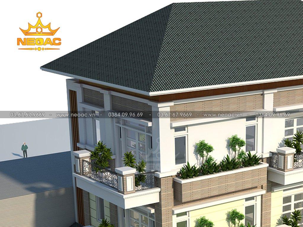 Thiết kế kiến trúc biệt thự mái Thái 4 tầng 120m2