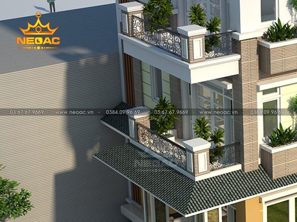 Kiến trúc biệt thự mái Thái 4 tầng 120m2