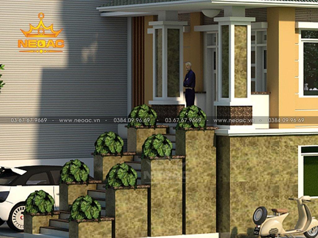 Bản vẽ biệt thự mái Thái 4 tầng 120m2