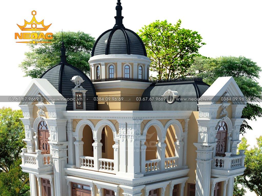 Xây dựng biệt thự tân cổ điển 4 tầng 110m2