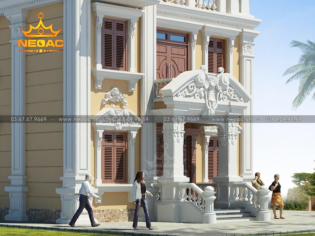 Kiến trúc biệt thự tân cổ điển 4 tầng 110m2
