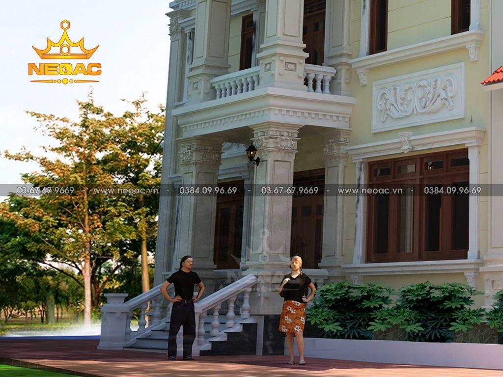 Biệt thự 4 tầng tân cổ điển 150m2 tại Hưng YênBiệt thự 4 tầng kiểu Pháp 150m2