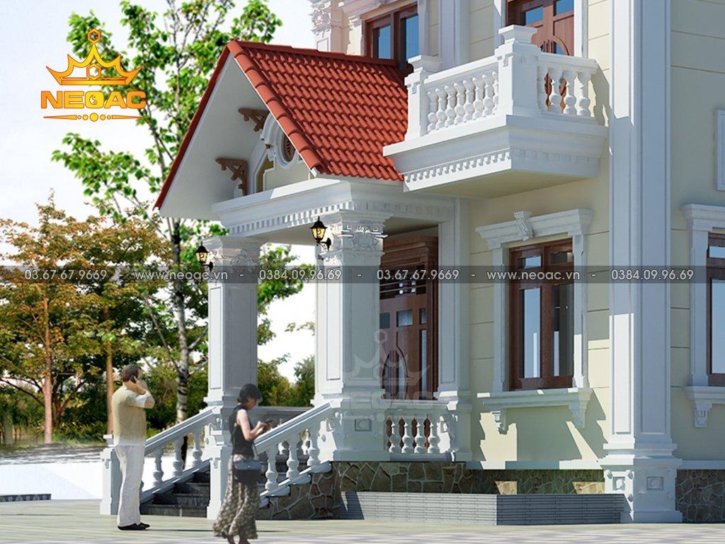 Thiết kế biệt thự tân cổ điển 4 tầng 150m2