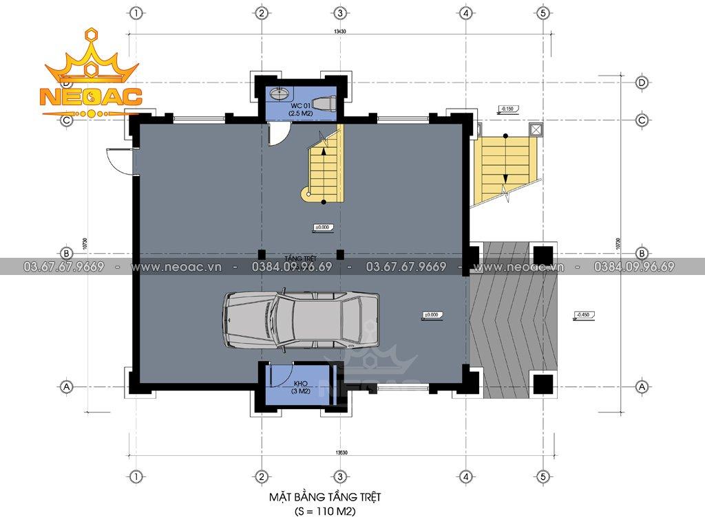 Hồ sơ biệt thự tân cổ điển 5 tầng 120m2