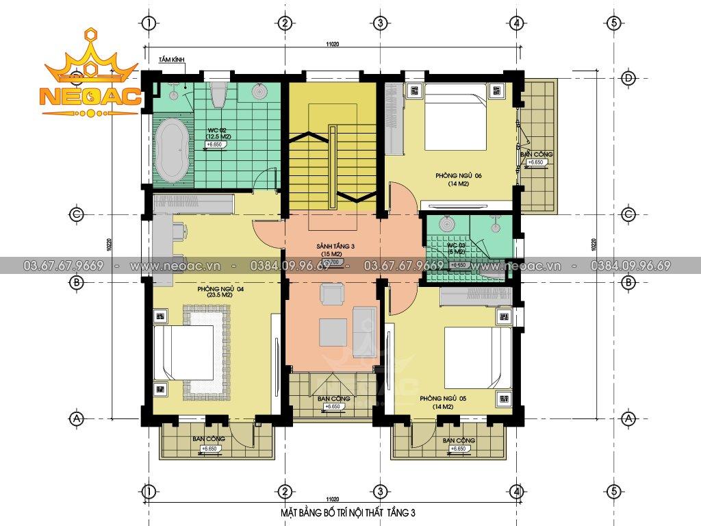 Biệt thự Pháp 5 tầng 130m2