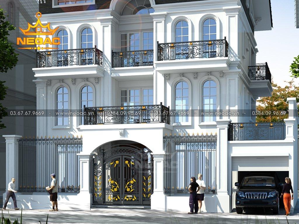 Kiến trúc biệt thự tân cổ điển 5 tầng 130m2